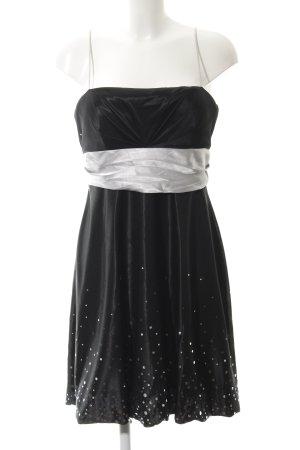 Ambiance Vestido de noche negro-gris claro elegante