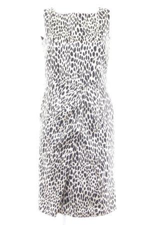 Ambiance Vestido ceñido de tubo negro-beige claro estampado de animales