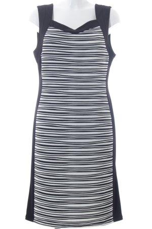 Ambiance Etuikleid schwarz-weiß Casual-Look