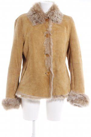 Ambiance Fur Jacket sand brown casual look