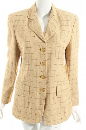Ambiente Blazer beige-dark brown check pattern elegant