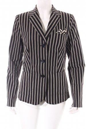 Ambiente Blazer black-cream striped pattern extravagant style