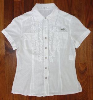 Ambiente Short Sleeved Blouse white-silver-colored cotton
