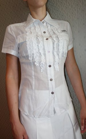 Ambiente Short Sleeved Blouse white-silver-colored