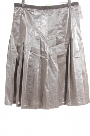 Ambiente Plaid Skirt silver-colored-grey metallic look