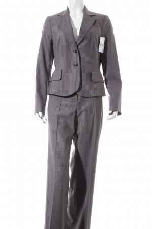 Ambiente Trouser Suit grey-pink pinstripe business style