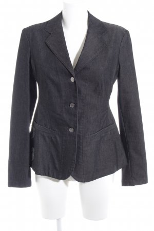 Ambiente Jeansblazer anthrazit Motivdruck Casual-Look