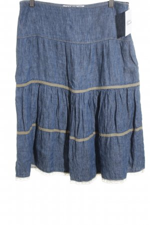 Ambiente Denim Skirt cornflower blue jeans look