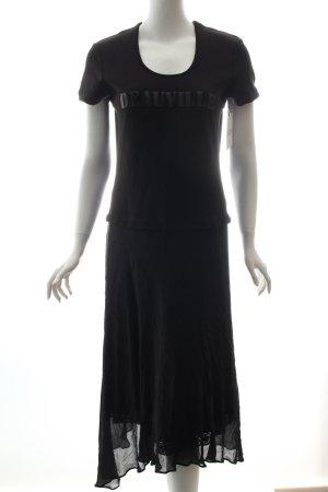 Ambiente Kleid schwarz-anthrazit Lagen-Look