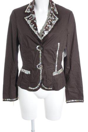 Ambiente Korte blazer bruin extravagante stijl