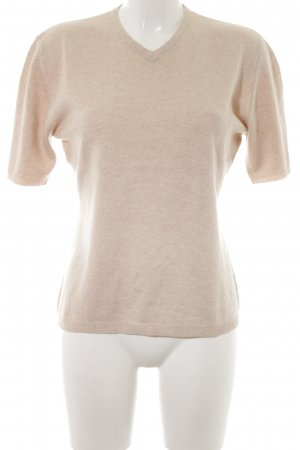 Ambiente Short Sleeve Sweater cream casual look