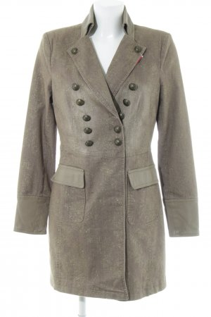 Ambiente Short Coat grey brown-gold-colored extravagant style