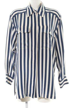 Ambiente Camicia a maniche lunghe blu-color carne motivo a righe stile casual