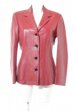 Ambiente Leather Jacket carmine casual look