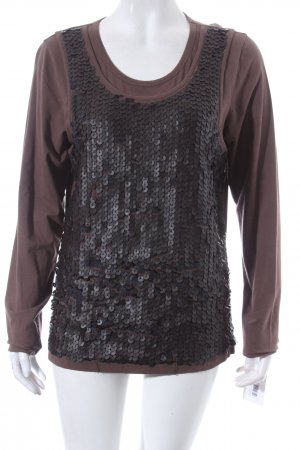 Ambiente Longsleeve dark green-black layered look