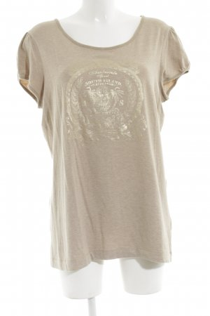 Ambiente Print Shirt natural white-gold-colored flecked casual look