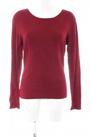 Ambiente Rundhalspullover rot Casual-Look