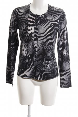 Ambiente Shirtjack zwart-lichtgrijs dierenprint casual uitstraling