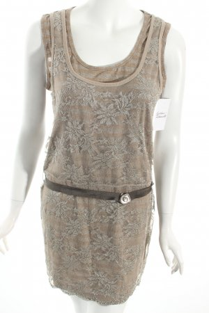 Ambiente Lace Dress camel casual look