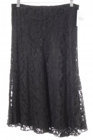 Ambiente Lace Skirt black floral pattern lace look
