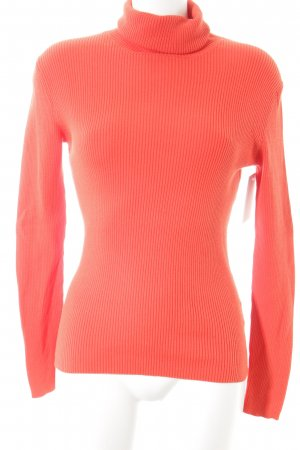 Ambiente Sport Turtleneck Sweater neon orange simple style