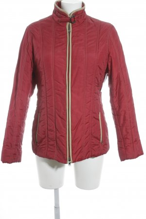 Ambiente Quilted Jacket dark red quilting pattern casual look