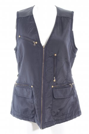 Ambiente Quilted Gilet dark blue casual look