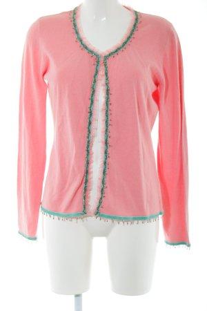 Ambiente Giacca in maglia rosa-verde stile casual