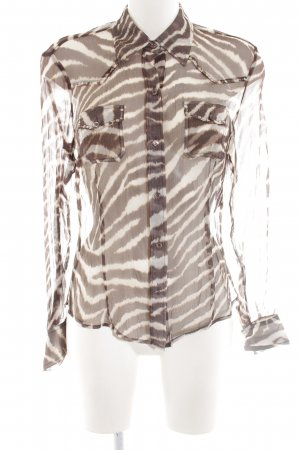Ambiente Transparent Blouse brown-white animal pattern casual look