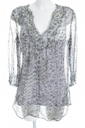 Ambiente Transparent Blouse light grey abstract pattern beach look