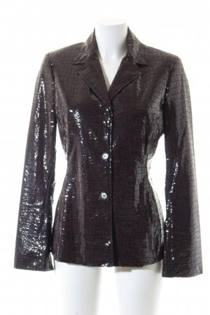 Ambiente Tweed Blazer dark brown extravagant style