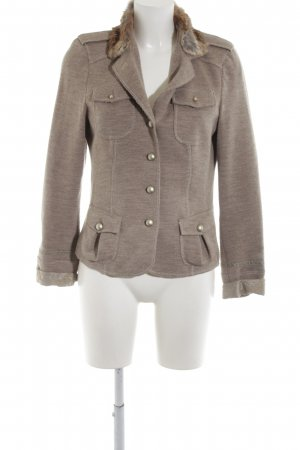 Ambiente Wool Blazer bronze-colored-light grey flecked casual look