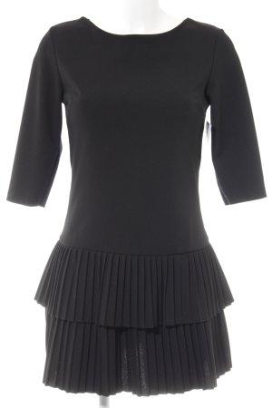 Ambika Vestido de manga larga negro elegante