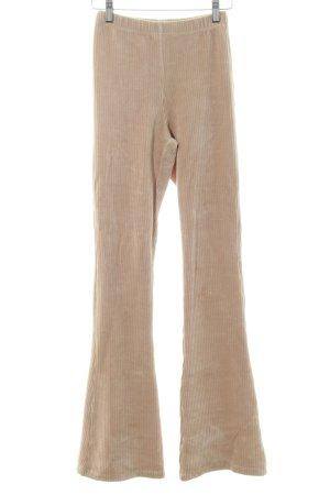 Ambika Pantalon pattes d'éléphant beige style décontracté