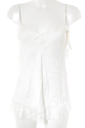 Ambika Débardeur à bretelles blanc style romantique