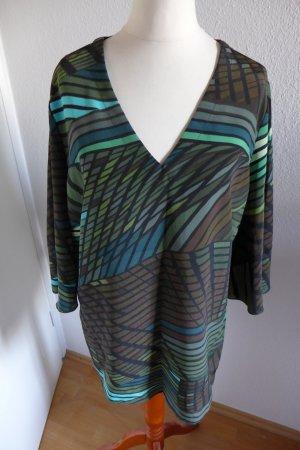 Ambria Shirt Bluse Tunika braun grün blau Gr.42 wie neu