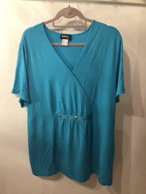 Ambria Selection V-hals shirt turkoois