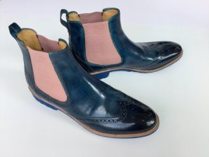 Amelie 5 crust midblue/rose Stiefelette