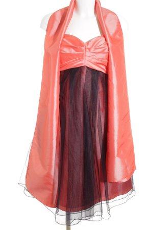 Amélie Vestido bustier salmón-negro elegante