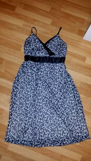 amen Kleid/ Sommerkleid/ schwarz-grau/ Leopardenmuster/ Gr. 42