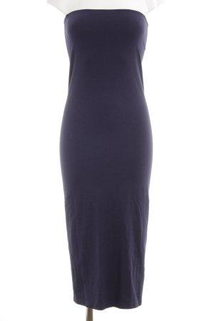 American Apparel Vestido bandeau azul oscuro estilo sencillo