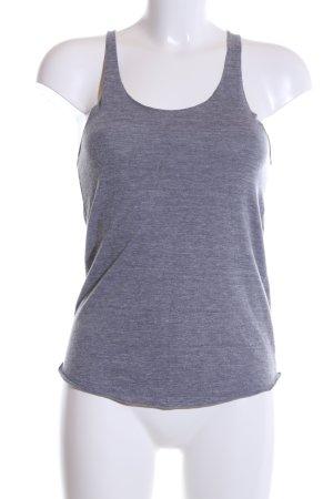 American Apparel Top basic grigio chiaro puntinato stile casual