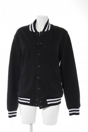 American Apparel Collegejacke schwarz-weiß College-Look