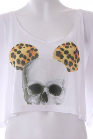 American Apparel Crop Shirt mit Print / Leoprint