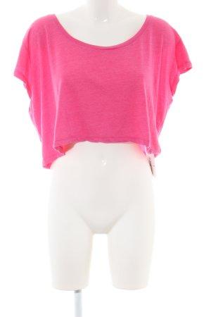 American Apparel Camicia cropped rosa stile casual