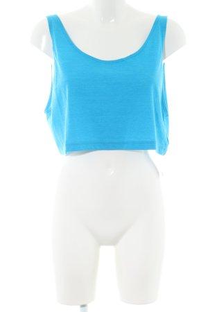 American Apparel Top corto blu puntinato stile casual