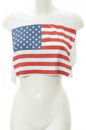 American Apparel Cropped Top Motivdruck Casual-Look