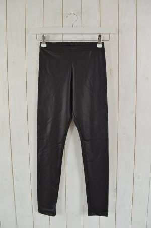 AMERICAN APPAREL Damen Leggings Stretch Schwarz Beschichtet Gr.M Neu!