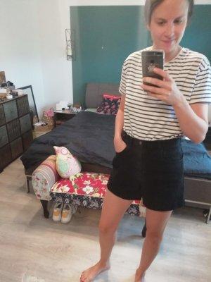 American Apparel Denim Black Jeans Highwaist Shorts kurze Hose 28/29