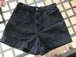 American Apparel Denim Shorts Jeans Highwaist Umschlag Hotpants